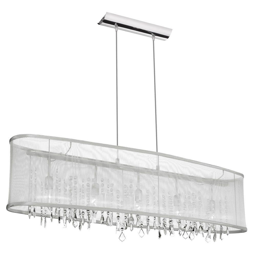 Radionic Hi Tech Nevaeh 5-Light 10 in. Polished Chrome Chandelier