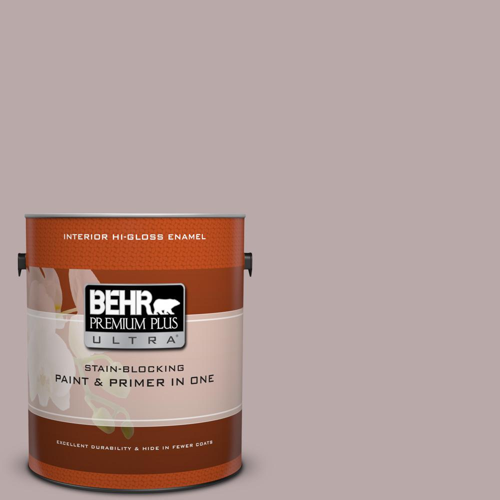 1 gal. #730B-4 Winter Cocoa Hi-Gloss Enamel Interior Paint