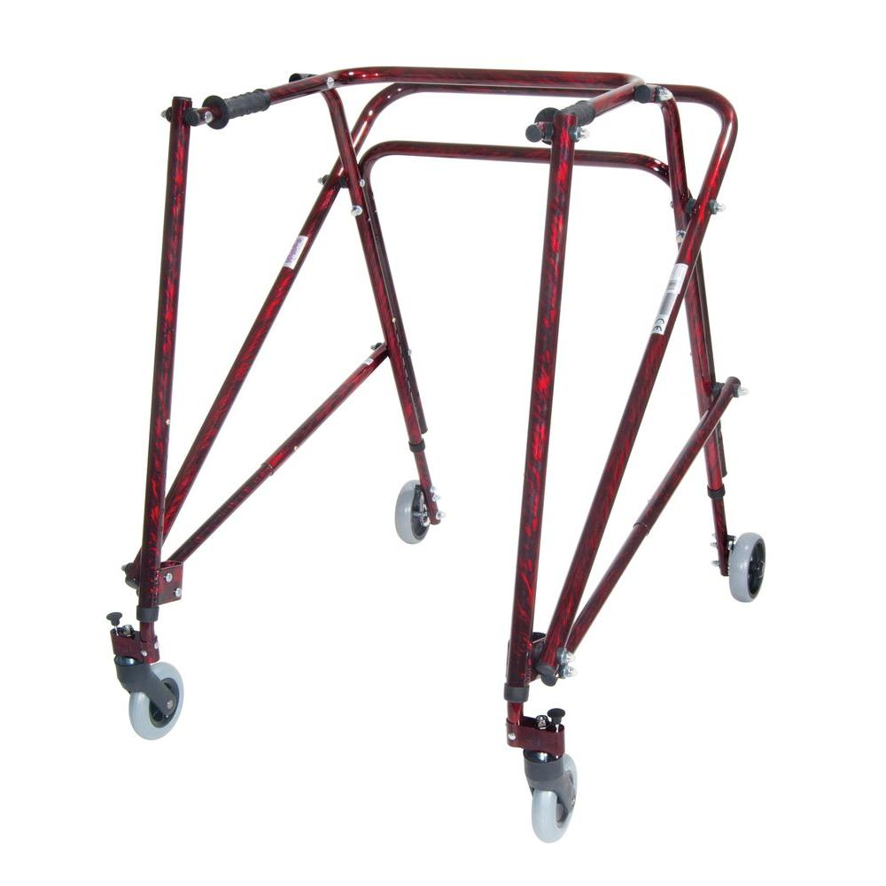 Drive Nimbo Rehab Lightweight Posterior Posture Walker for Adult in Flame