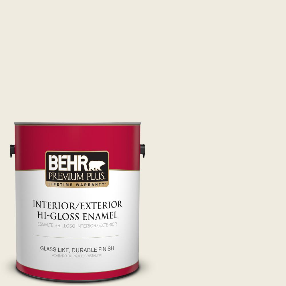 BEHR Premium Plus 1 gal. #PPU10-14 Ivory Palace High-Gloss Enamel