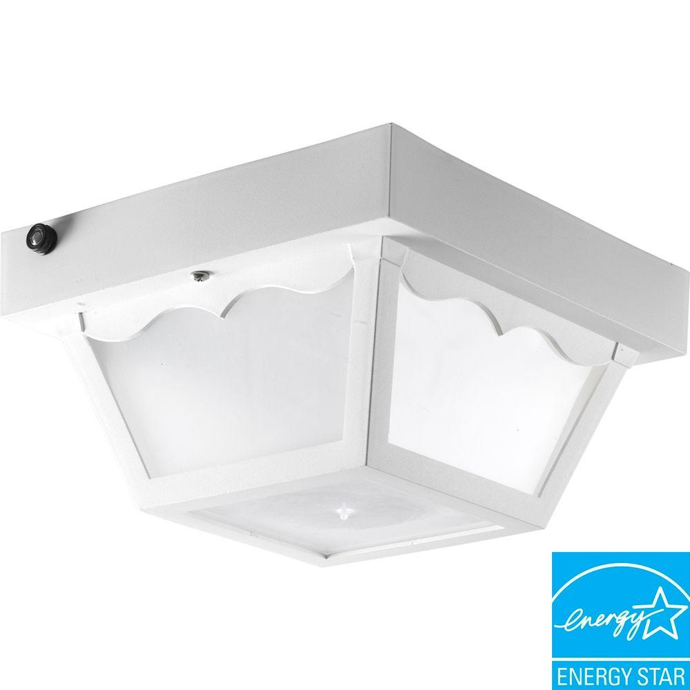 Progress Lighting Polycarbonate Collection 1-Light White Outdoor