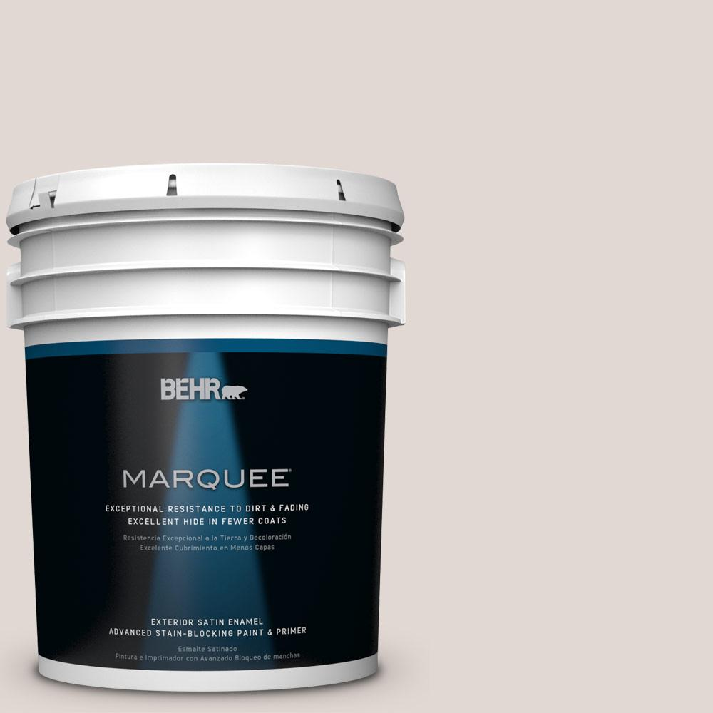 BEHR MARQUEE 5-gal. #PPL-78 Taupe Mist Satin Enamel Exterior Paint-945005 -