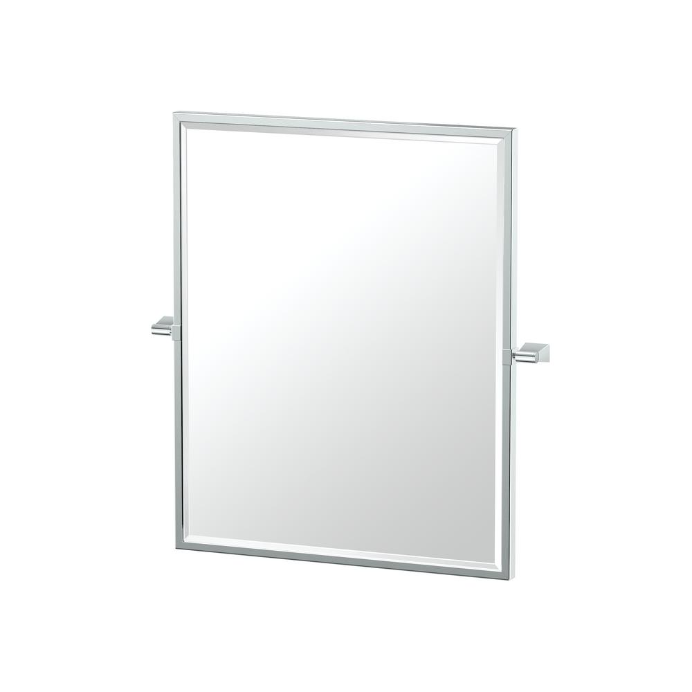 Bleu 23.5 in. x 25 in. Single Framed Small Rectangle Mirror