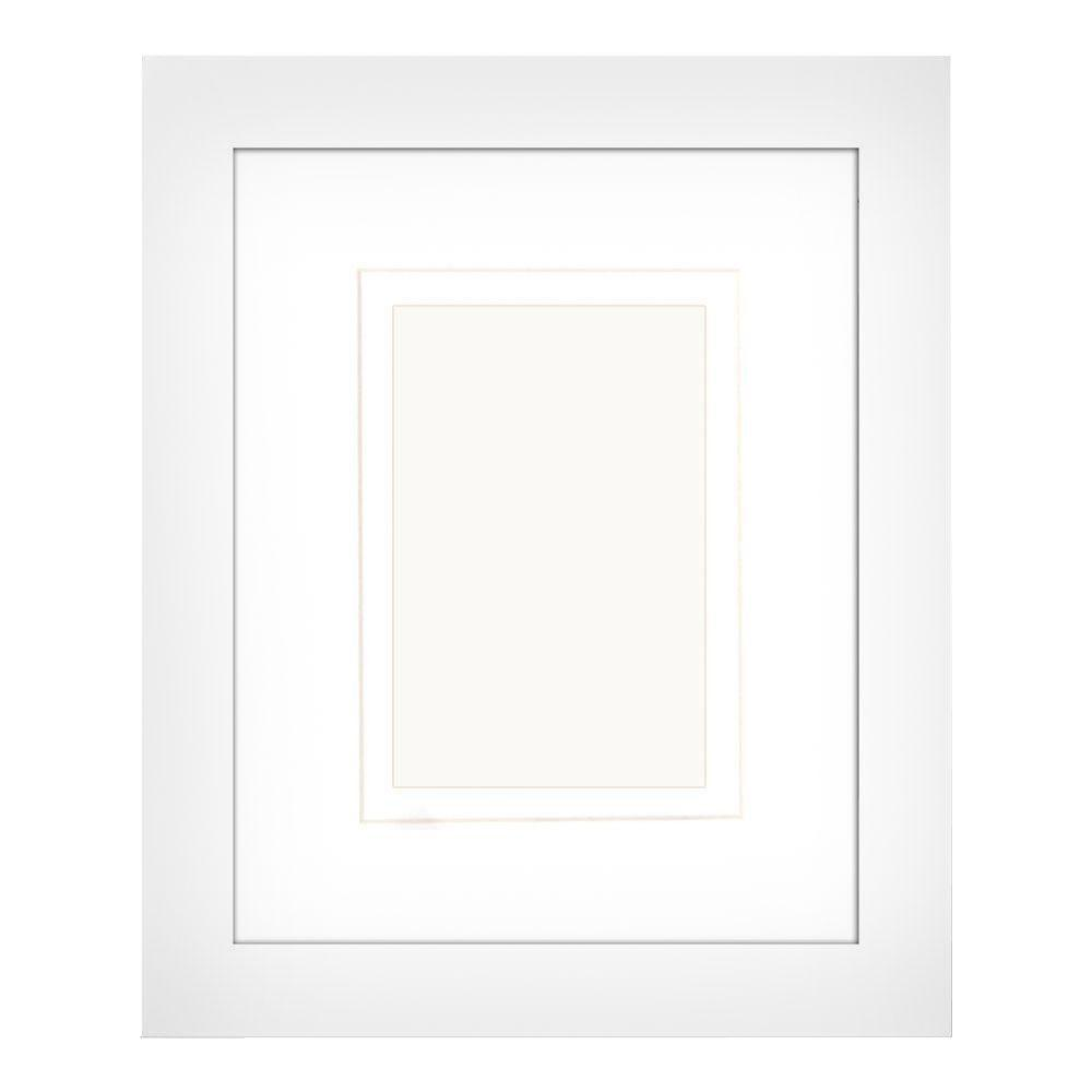 PTM Images 1-Opening 4 in. x 6 in. or 5 in. x 7 in. Matted White Picture Frame (Set of 2)