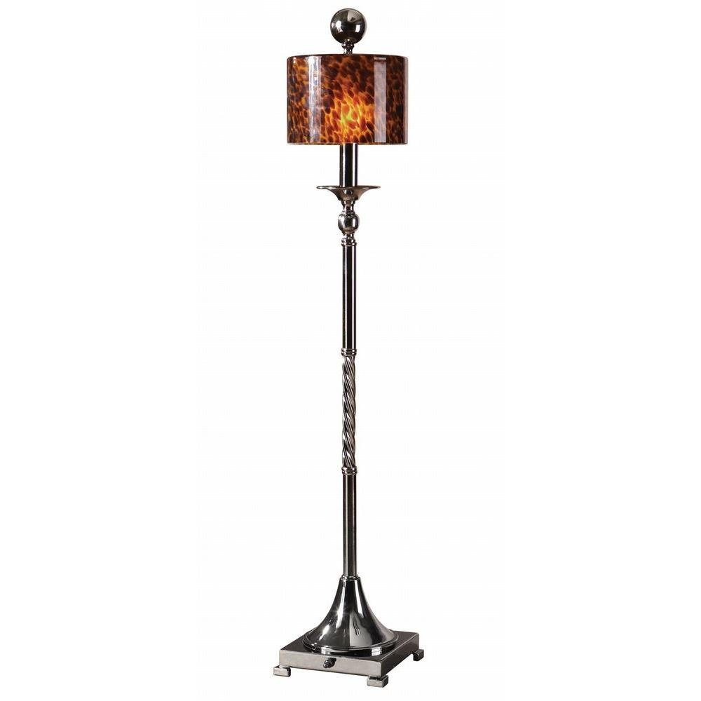 Global Direct 35 in. Black Chrome Buffet Lamp-DISCONTINUED