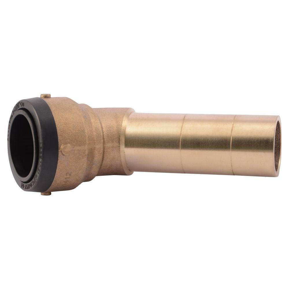 1-1/4 in. Brass 45-Degree Push-to-Connect Street Elbow