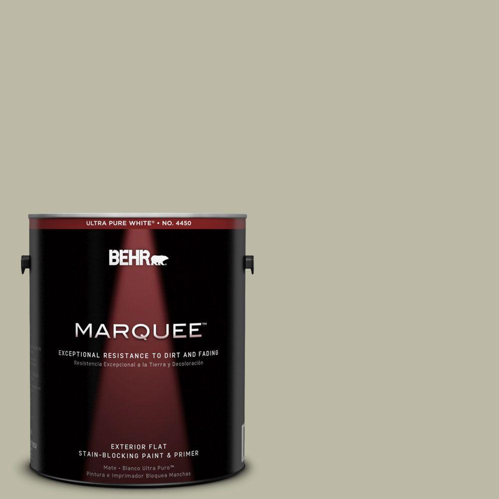 BEHR MARQUEE 1-gal. #400F-4 Restful Flat Exterior Paint-445401 - The Home