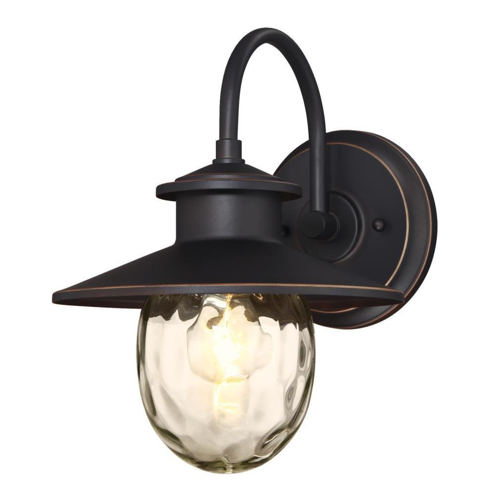 Westinghouse Delmont Oil Rubbed Bronze 1-Light with Highlights Outdoor Wall