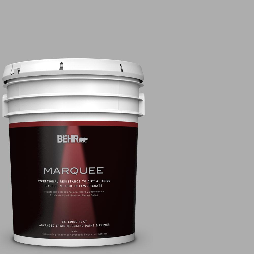 BEHR MARQUEE 5-gal. #N520-3 Flannel Gray Flat Exterior Paint