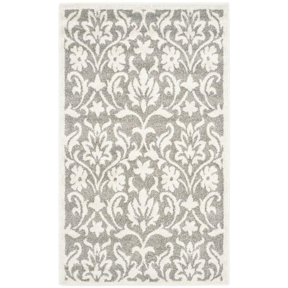 Amherst Dark Gray/Beige 4 ft. x 6 ft. Indoor/Outdoor Area Rug