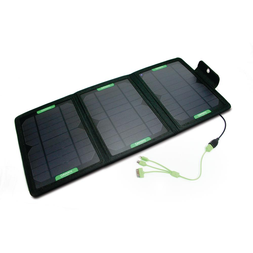 The Wave 12-Watt Tri-Fold Solar Charging Station Kit-DG-W-1 - The Home