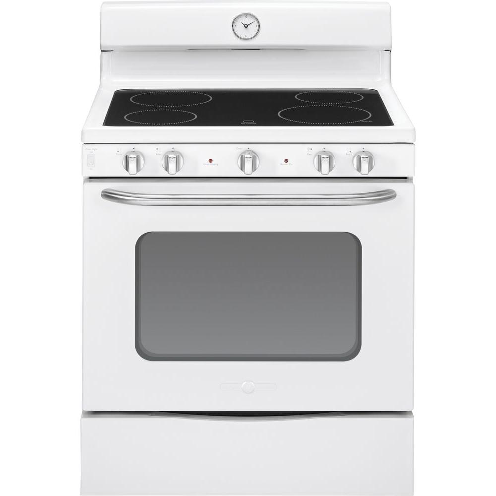 GE Artistry 5.0 cu. ft. Electric Range in White-ABS45DFWS - The