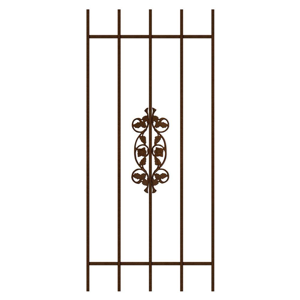 Unique Home Designs Rambling Rose 24 in. x 54 in. Copper 5-Bar Window Guard-DISCONTINUED