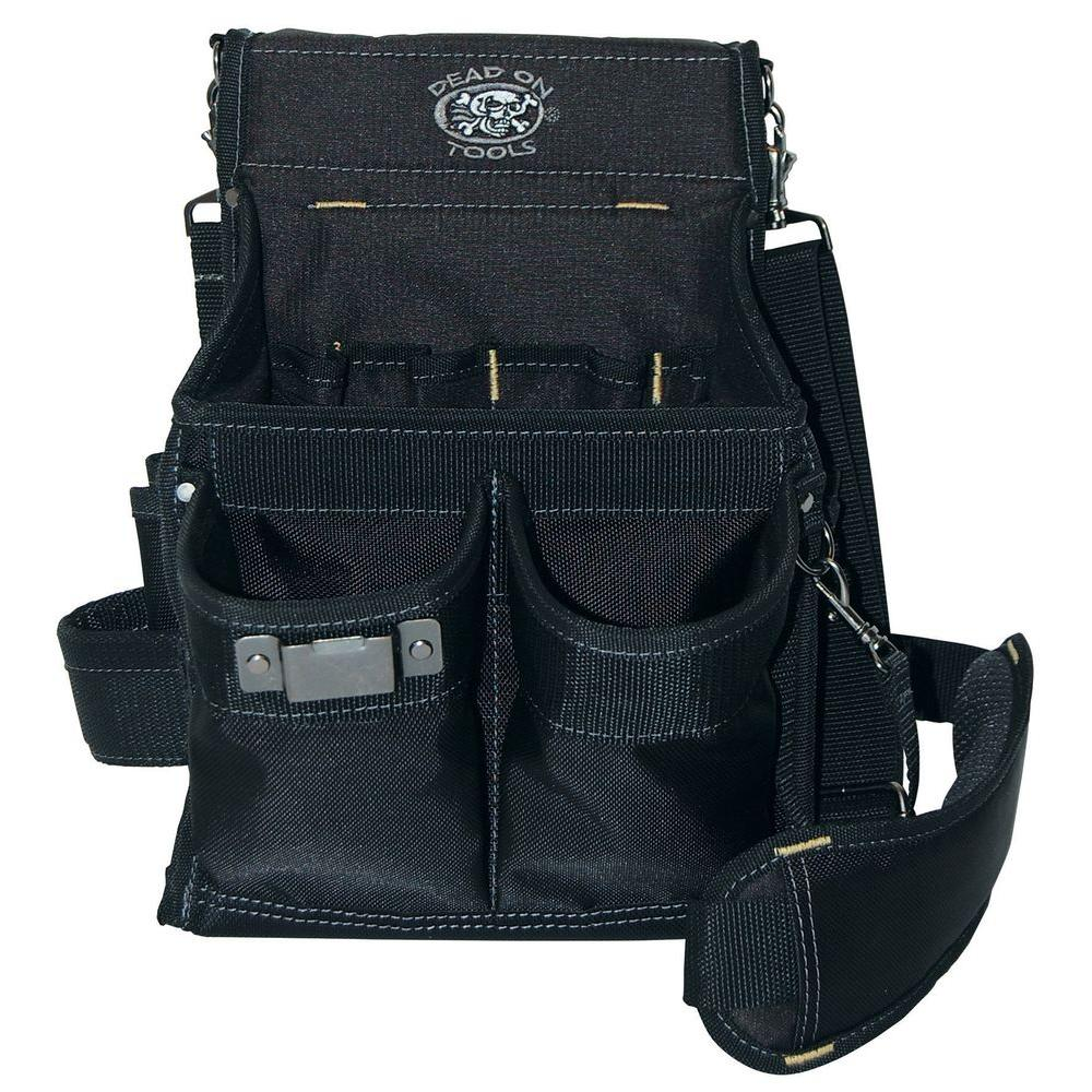 11 in. 14-Pocket Electricians Professional Pouch in Black