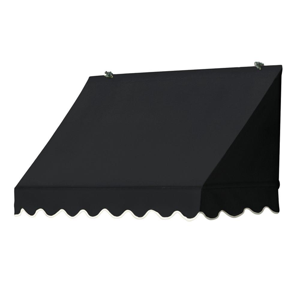 Awnings in a Box 4 ft. Traditional Manually Retractable Awning (26.5 in. Projection) in Ebony