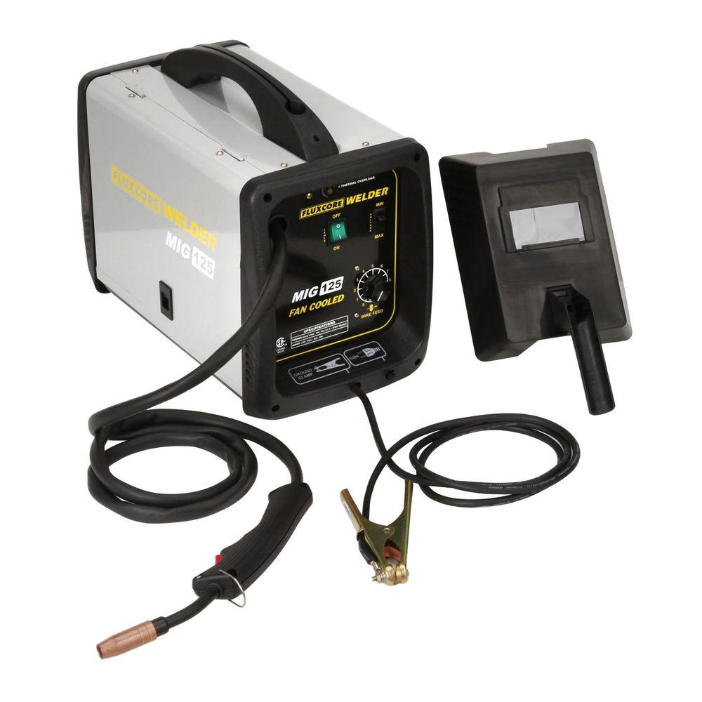 PRO-SERIES 125-Amp Fluxcore Welder Kit-MMIG125 - The Home Depot