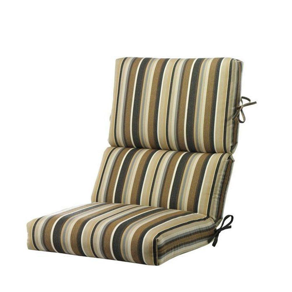 Home Decorators Collection Sunbrella Espresson Stripe Outdoor Lounge Chair