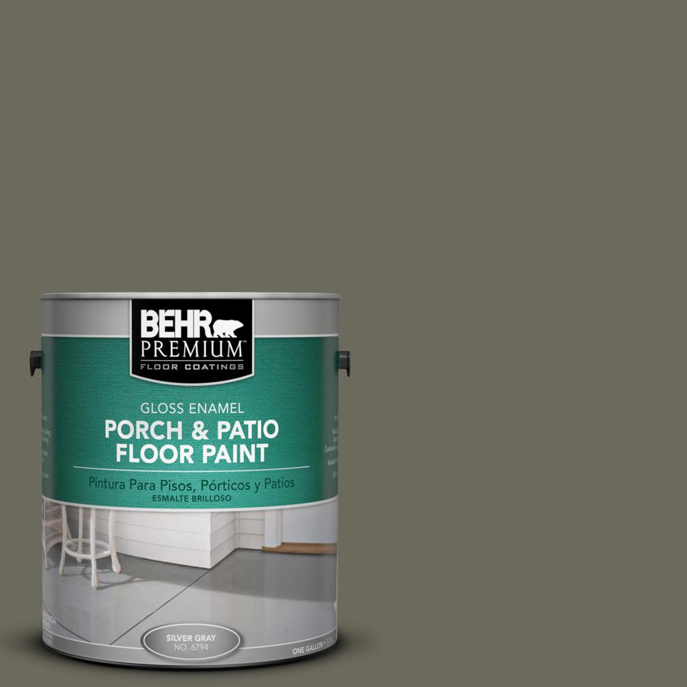 1 gal. #N370-6 Gladiator Gray Gloss Porch and Patio Floor Paint