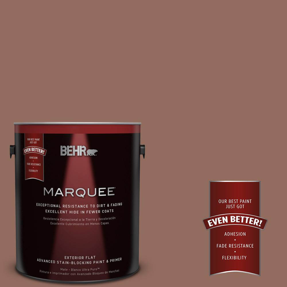 BEHR MARQUEE 1-gal. #220F-6 Chocolate Curl Flat Exterior Paint
