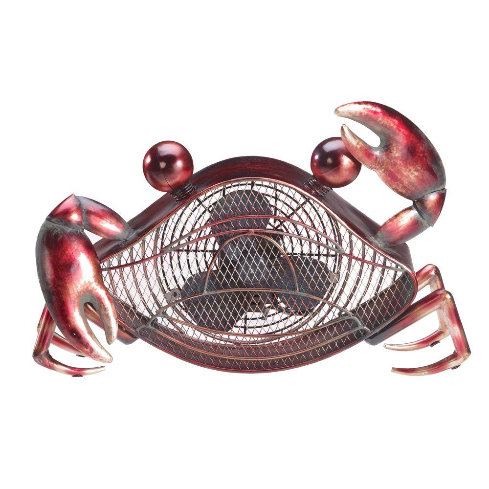 Deco Breeze 7 in. Figurine Fan-Crab