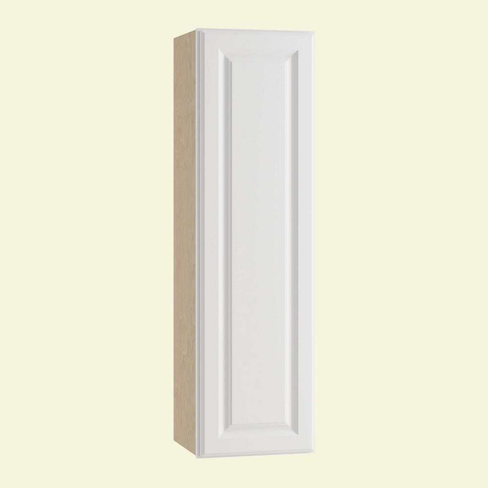 Home Decorators Collection Hallmark Assembled 12x42x12 in. Wall Kitchen Cabinet with 1 Door Left Hand in Arctic White