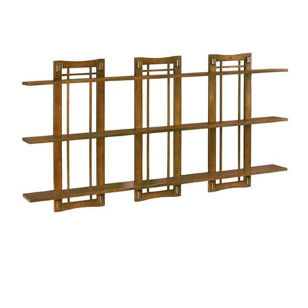 Home Decorators Collection Artisan Light Oak Triple Wall Shelf with Open-Panel-DISCONTINUED