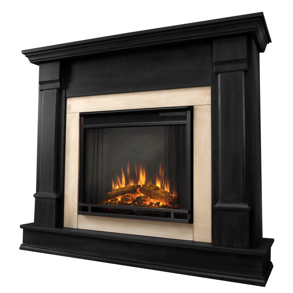 Real Flame Silverton 48 in. Electric Fireplace in Black-G8600E-B - The