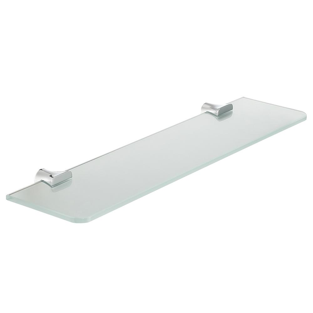 Essence Series 5.19 in. Glass Shelf in Polished Chrome