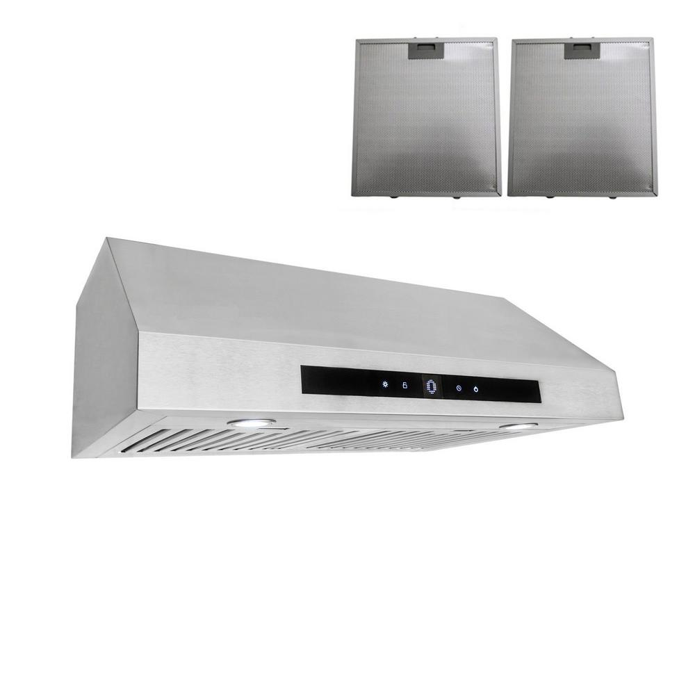 30 in. Ductless Under Cabinet Range Hood in Stainless Steel with