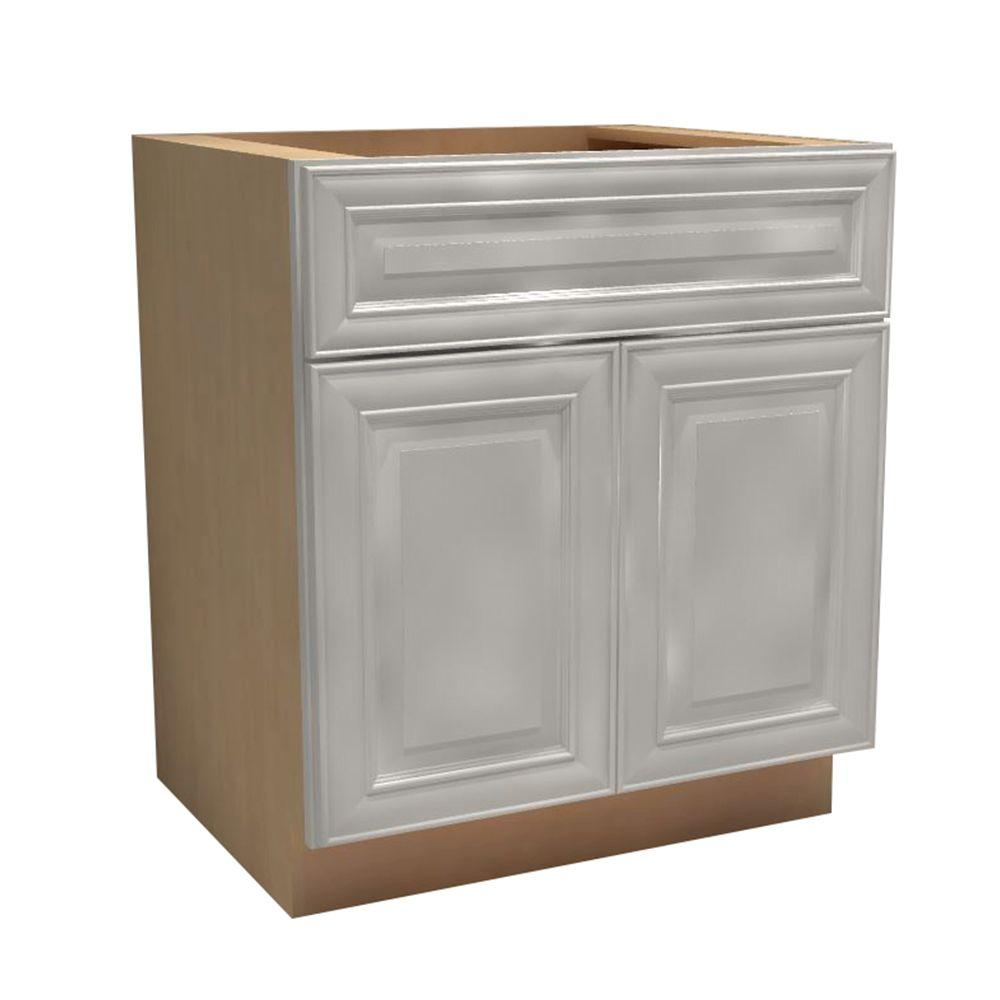 27x34.5x21 in. Brookfield Assembled Vanity Sink Base Cabinet with 2 Doors