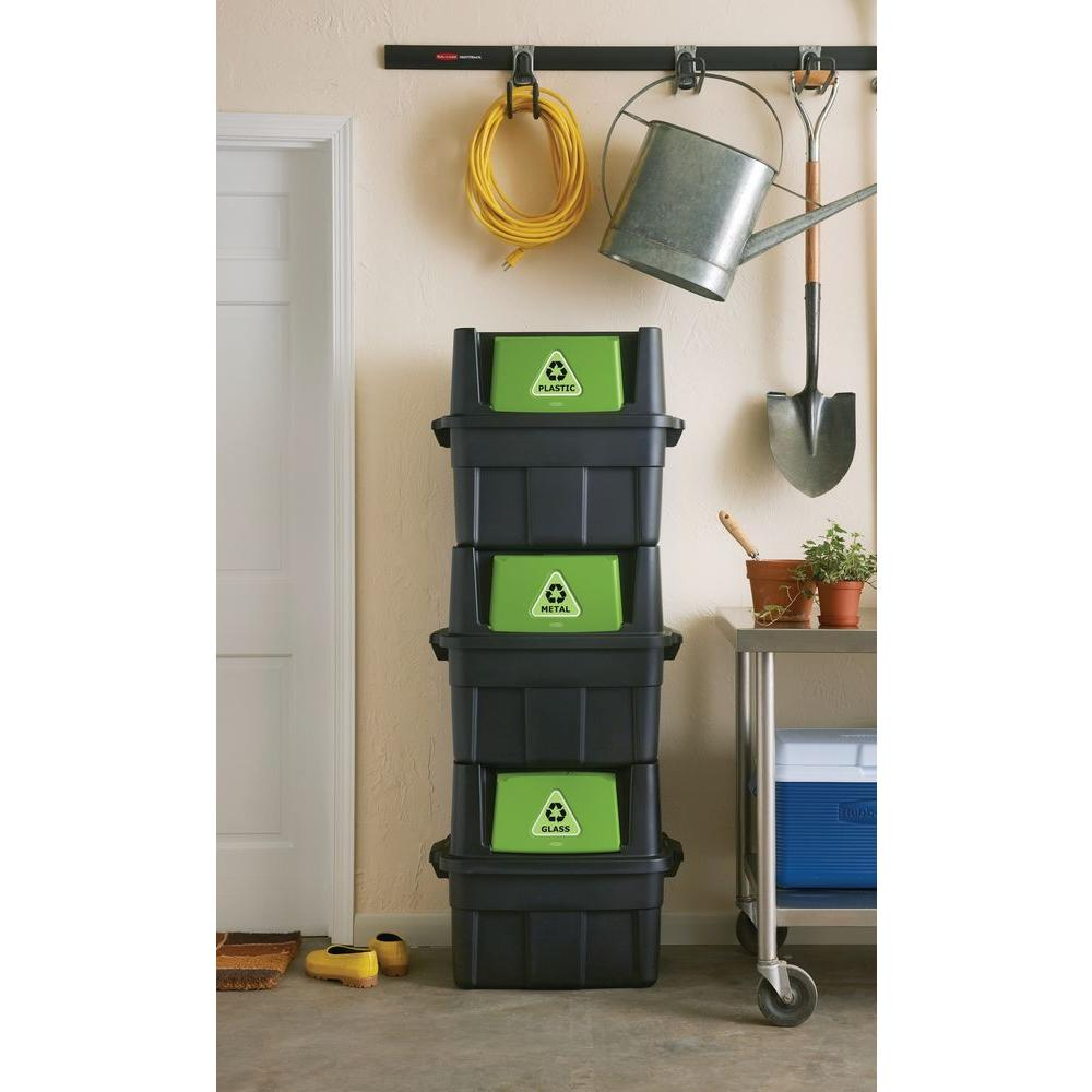 Recycle containers for home use - Stackable Recycling Bin 1803652 The Home Depot