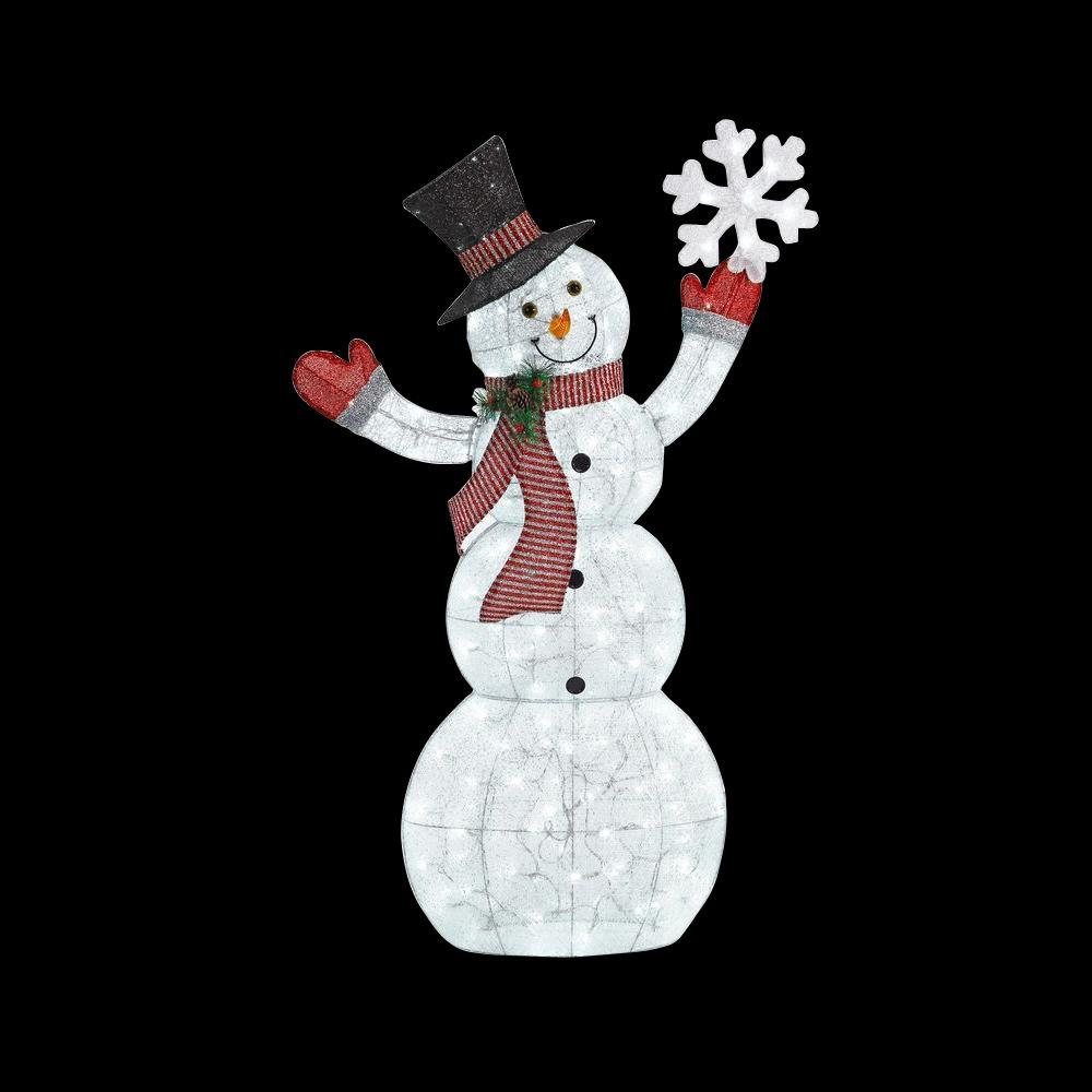 Home accents holiday in led lighted acrylic snowman for Led christmas decorations