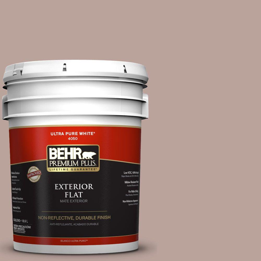 5-gal. #N150-3 Cocoa Craving Flat Exterior Paint