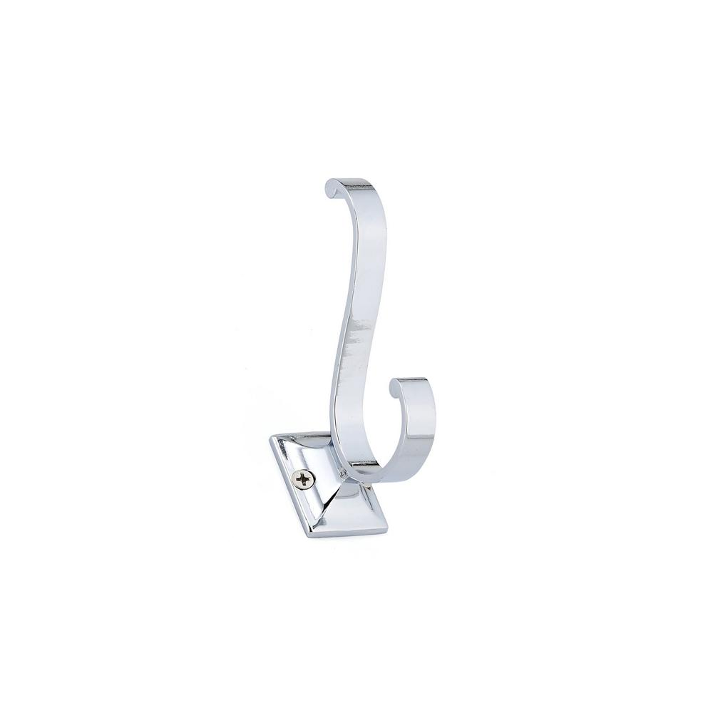 3-5/8 in. (92 mm) Chrome Decorative Hook