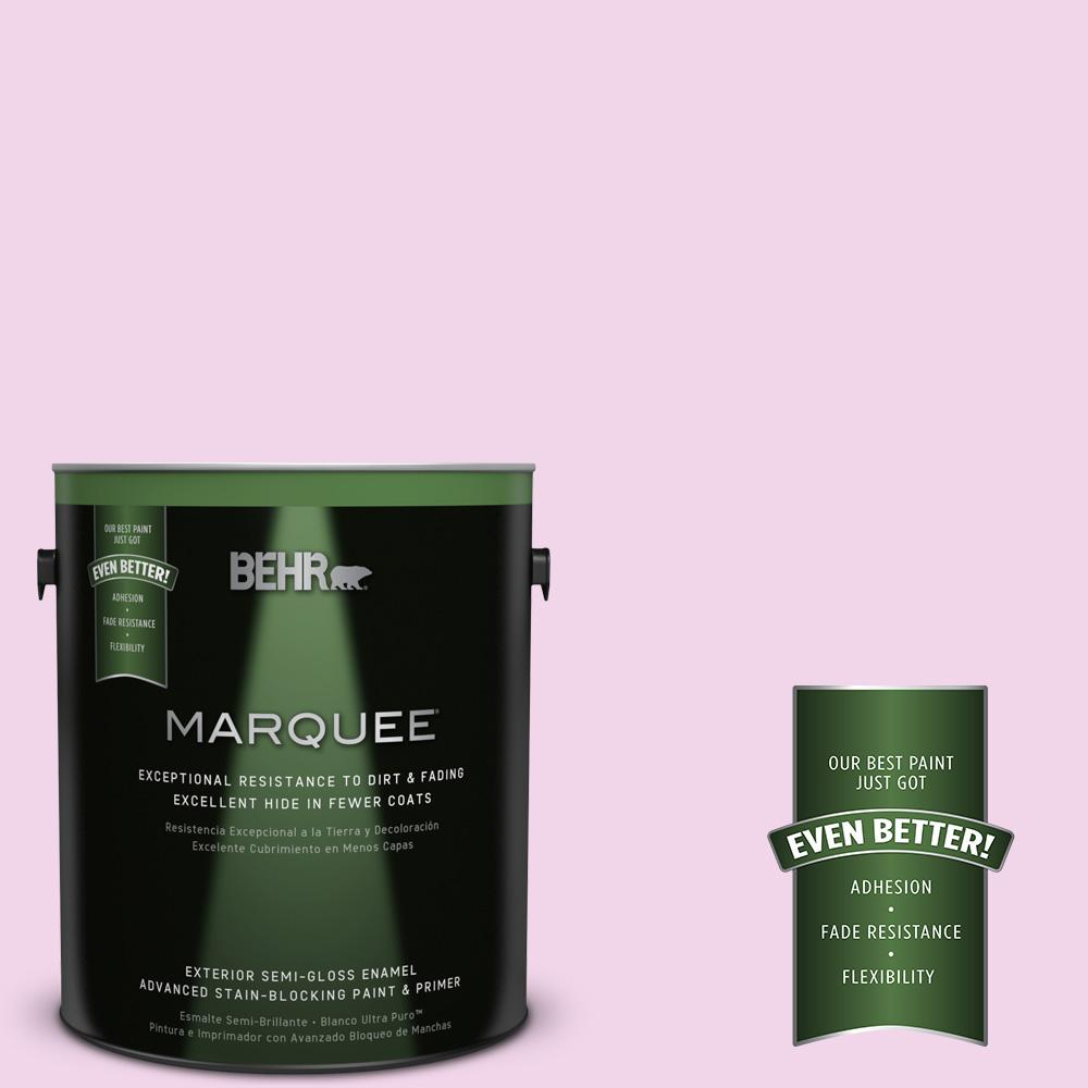 BEHR MARQUEE 1-gal. #680A-1 Candy Tuft Semi-Gloss Enamel Exterior Paint