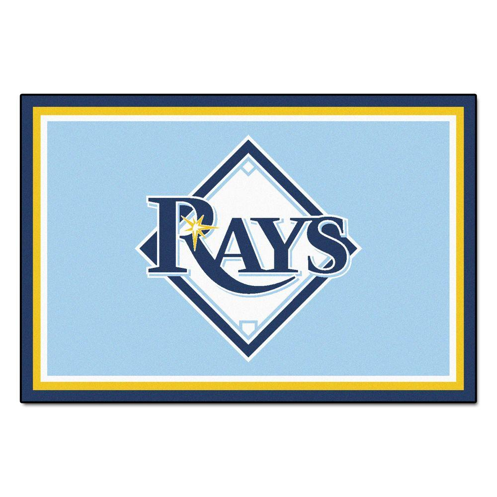 FANMATS Tampa Bay Rays 5 ft. x 8 ft. Area Rug-7088