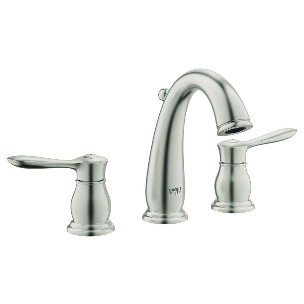 grohe parkfield 8 in. widespread 2-handle bathroom faucet in
