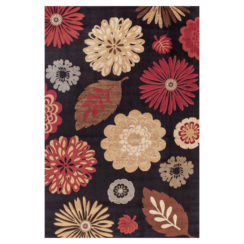 Concord Global Trading Jewel Kaleidoscope Black 6 ft. 7 in. x 9 ft. 3 in. Area Rug