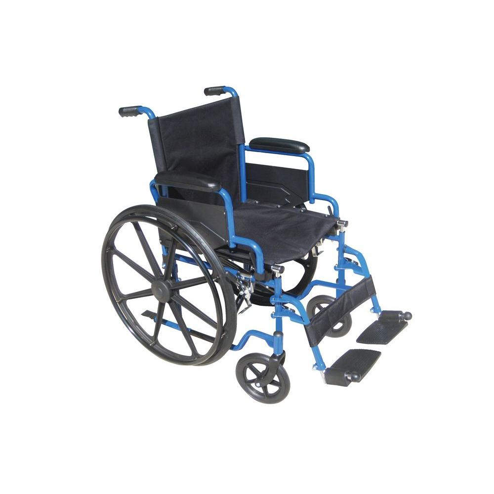 Blue Streak Wheelchair with Flip Back Desk Arms, 18 in. Seat