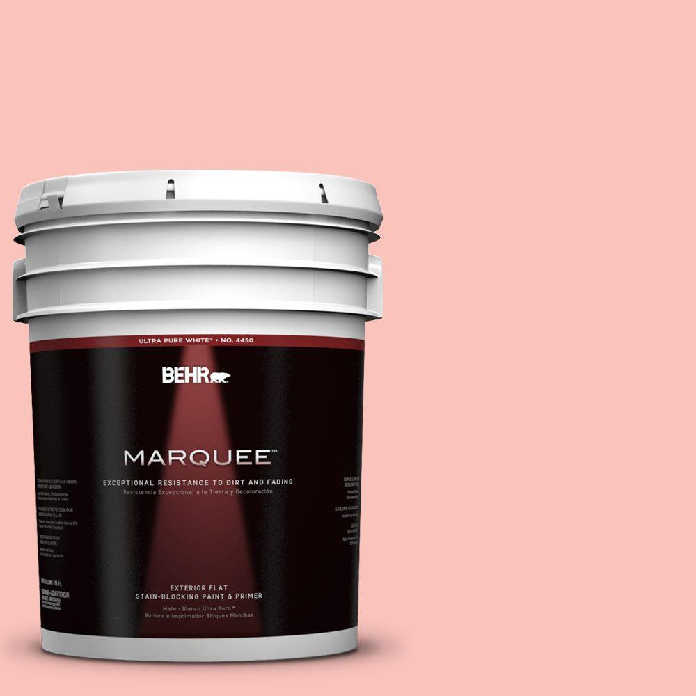BEHR MARQUEE 5-gal. #170C-3 Coral Bells Flat Exterior Paint-445005 - The