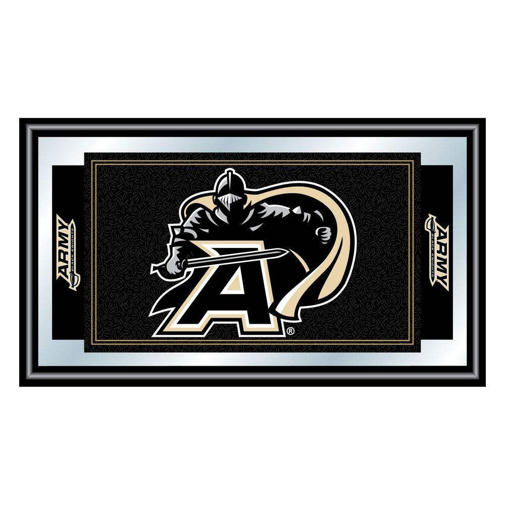 Trademark Army Black Knights 15 in. x 26 in. Black Wood Framed Mirror