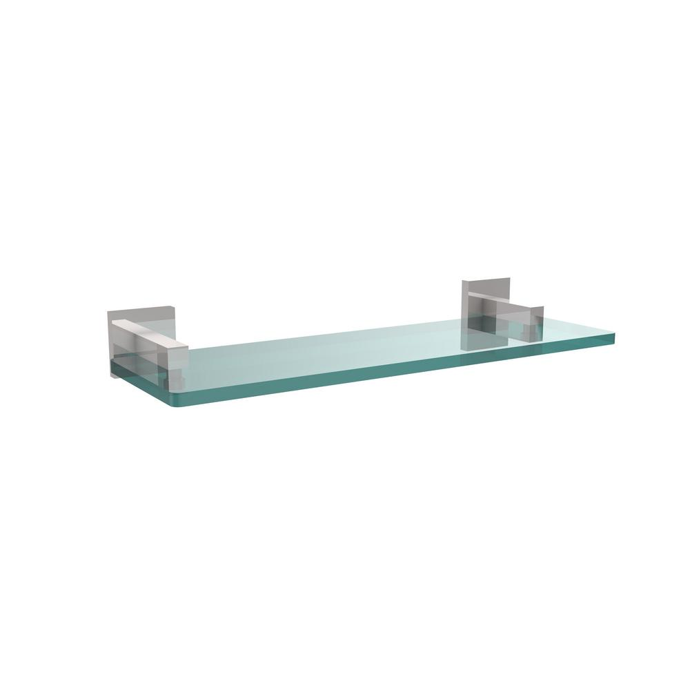 Allied Brass Montero Collection 16 in. Glass Vanity Shelf with Beveled