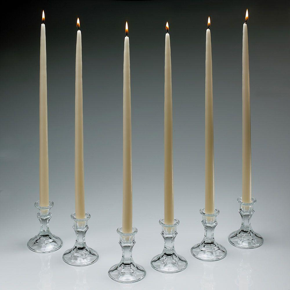 18 in. Tall Ivory Taper Candles (Set of 12)