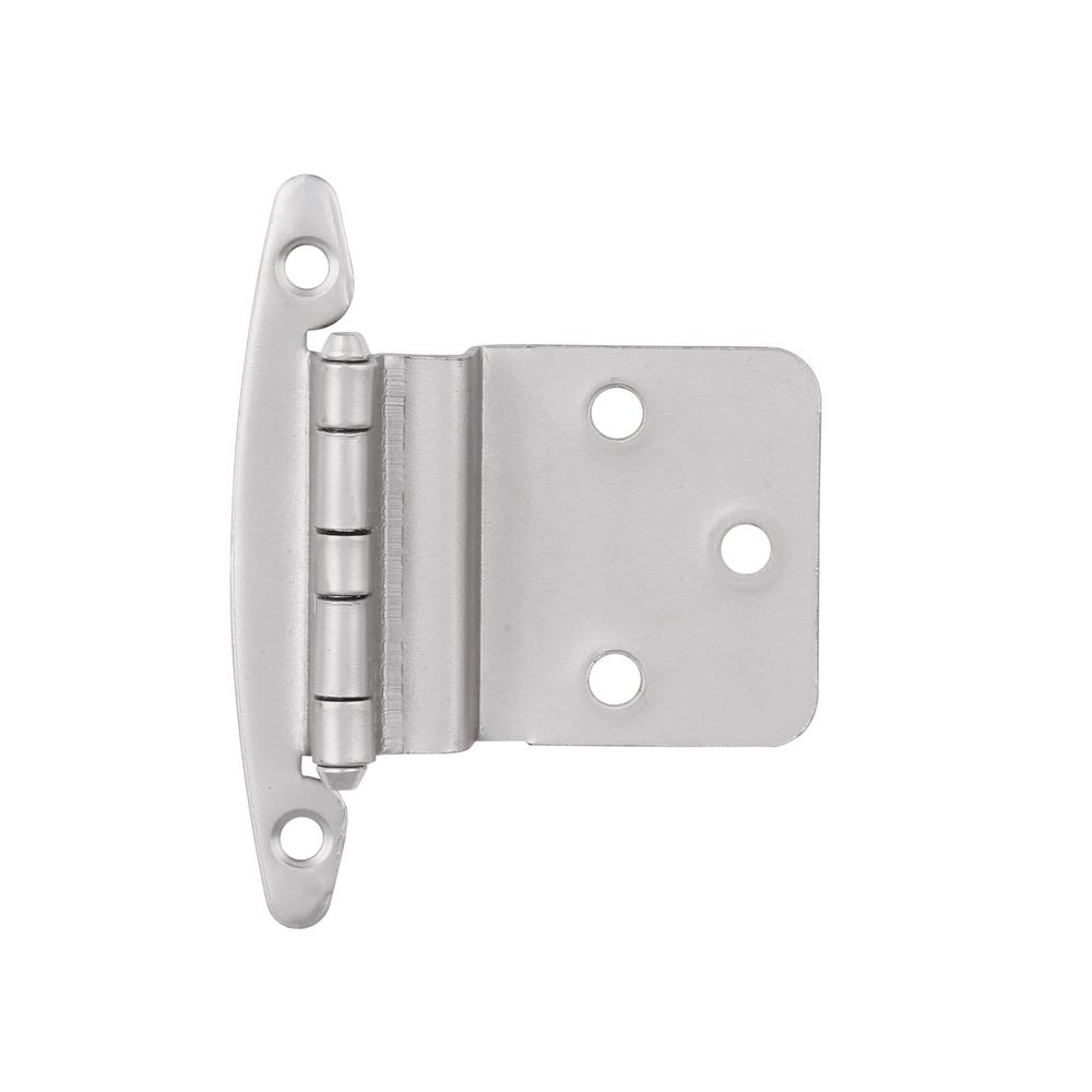 3/8 in. Satin Nickel Inset Hinge without Spring (1-Pair)