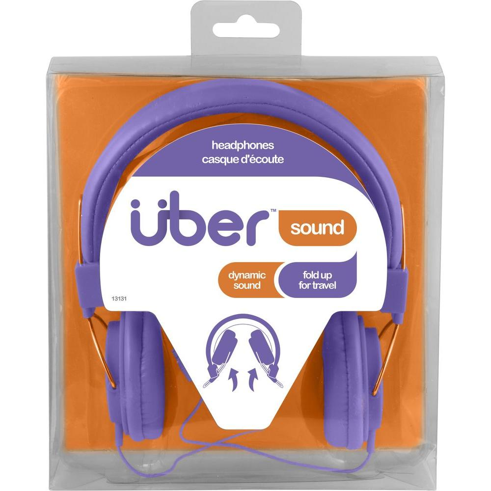 Uber Rubberized Headphones - Purple-13131 - The Home Depot