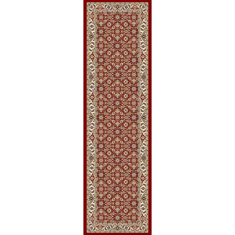 Hughes Red/Ivory 2 ft. 2 in. x 11 ft. Indoor Rug