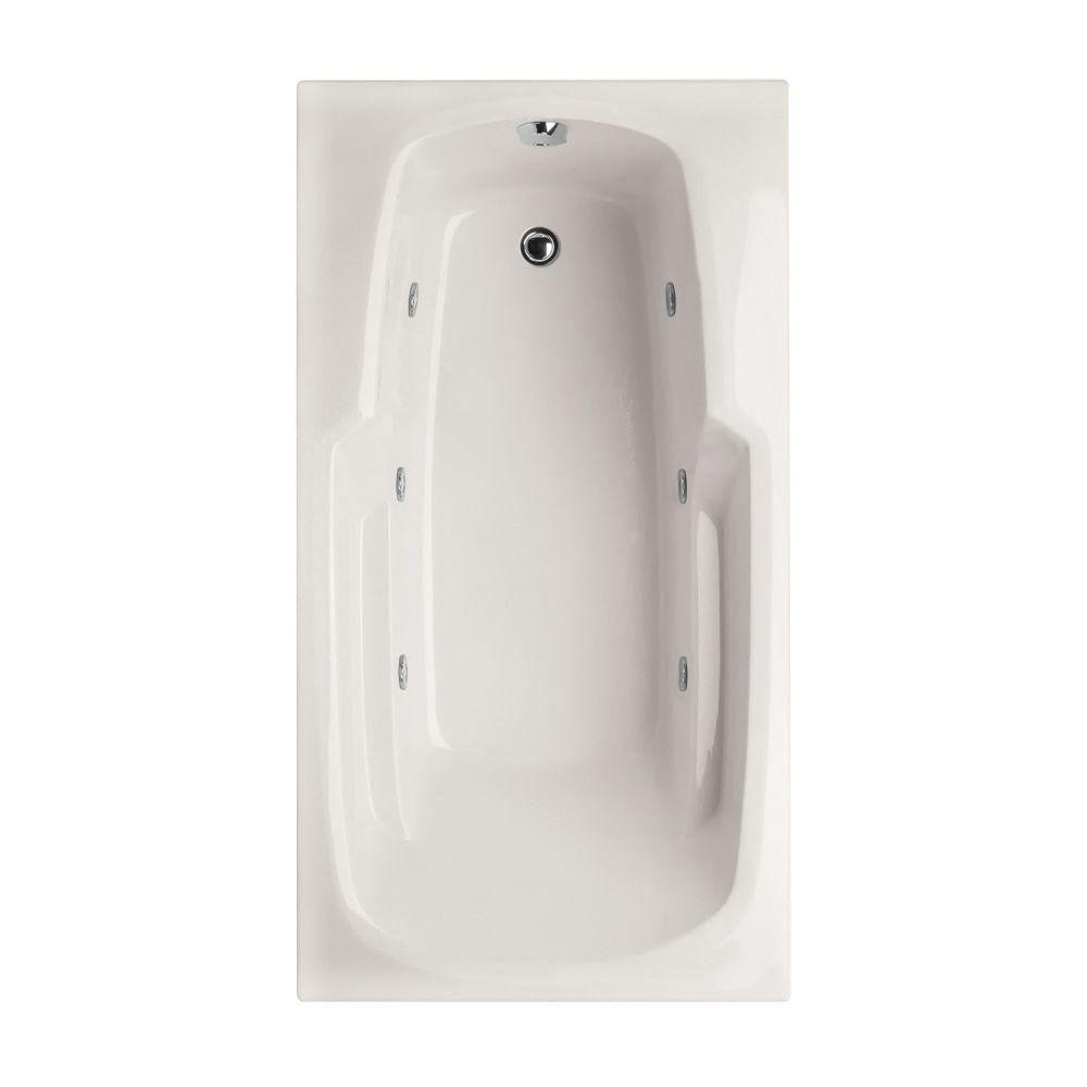 Hydro Systems Studio 6 ft. Reversible Drain Whirlpool Tub in White-STU7236AWPW