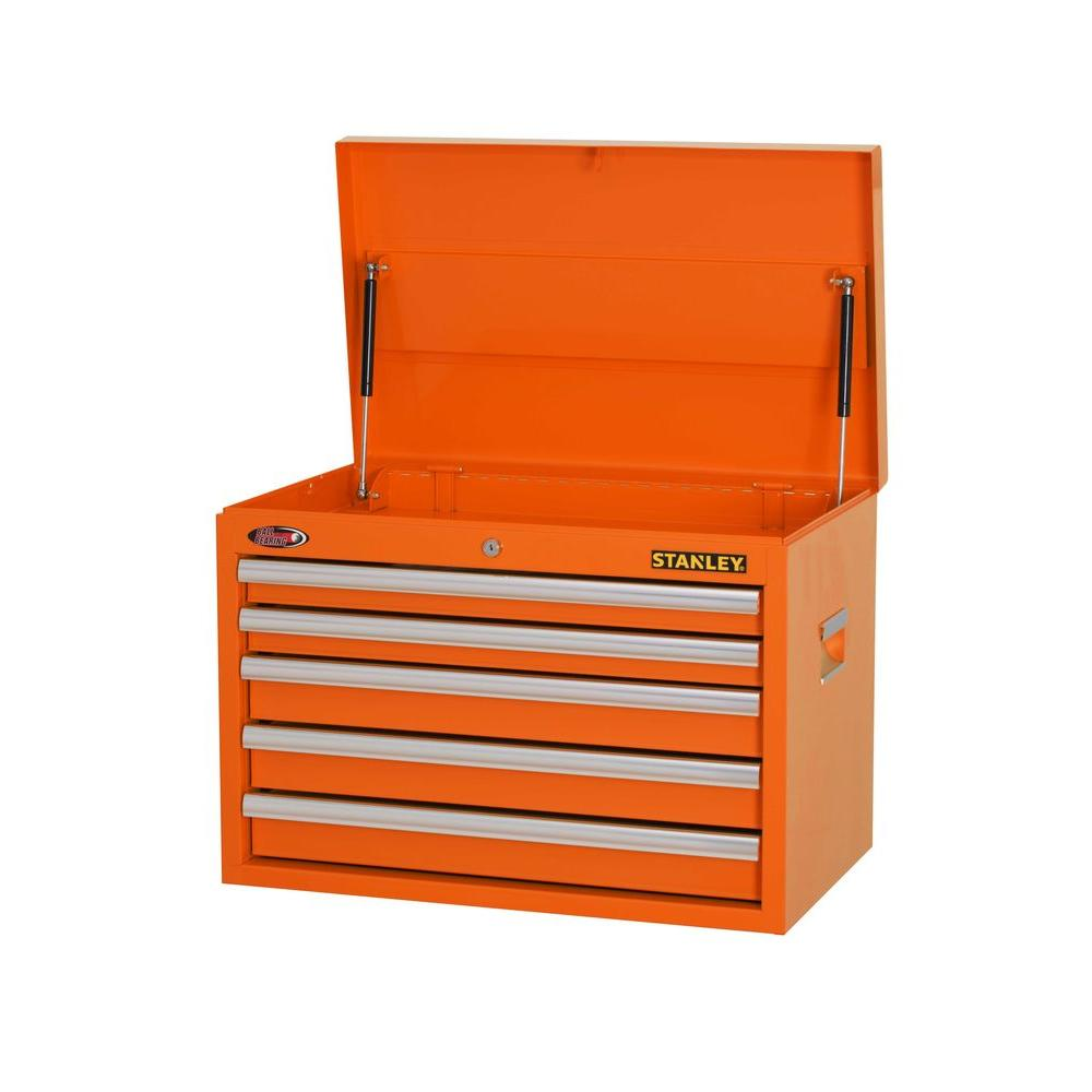 Stanley 26 in. W 5-Drawer Tool Chest, Orange-H5CHSO - The Home