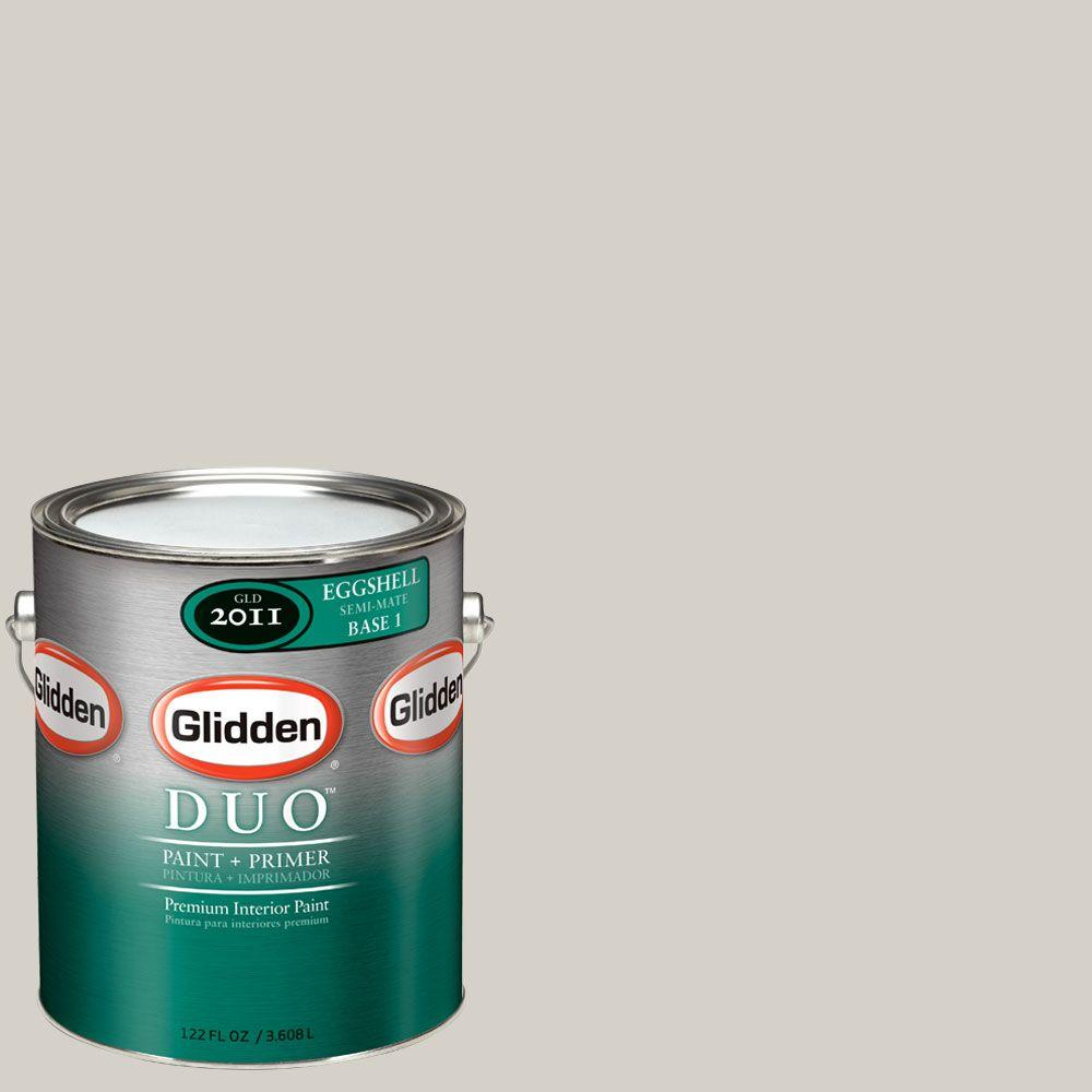 Glidden DUO 1-gal. #GLN36 Smooth Stone Eggshell Interior Paint with Primer