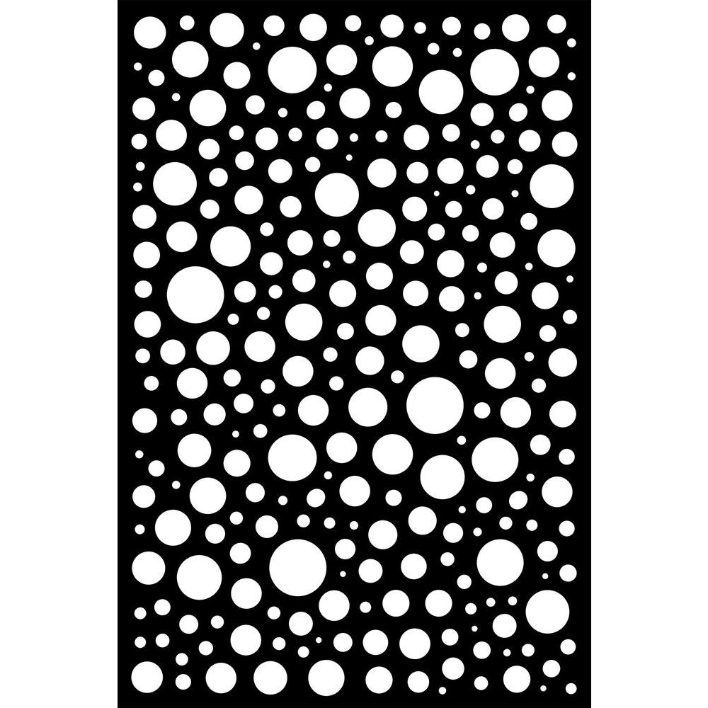 0.3 in. x 71 in. x 3.95 ft. Bubbles Recycled Plastic